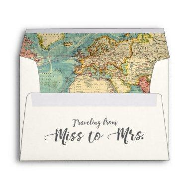 Miss to Mrs Travel  Envelope World