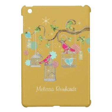 Mod Bird Cage Mason Jar Heart Floral  Case For The iPad Mini