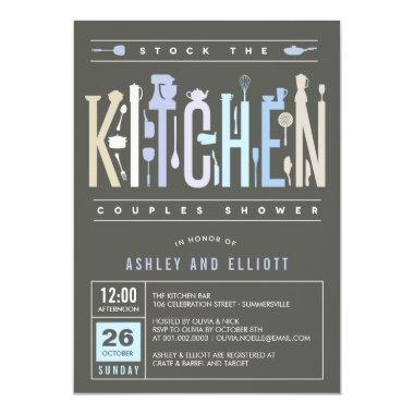 Mod Stock The Kitchen Couples Shower Party Invite