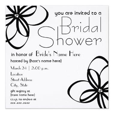 Modern Black & White Bridal Shower Invite