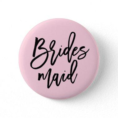 Modern Bridal Party Bridesmaid Pinback Button