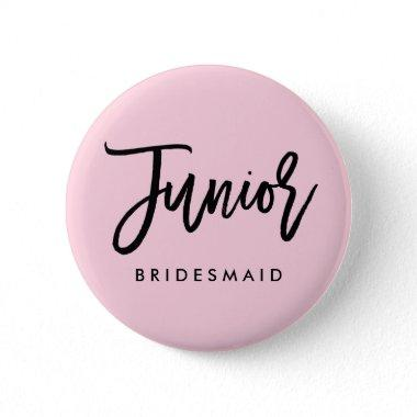 Modern Bridal Party Junior Bridesmaid Pinback Button