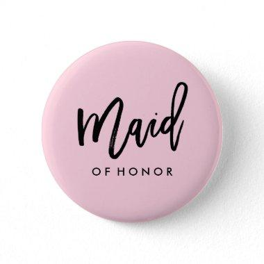 Modern Bridal Party Maid of Honor Button