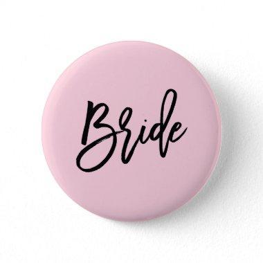 Modern Bridal Party Wedding Pinback Button