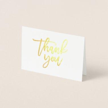 Modern Calligraphy Gold Foil Wedding Thank You Foil Invitations