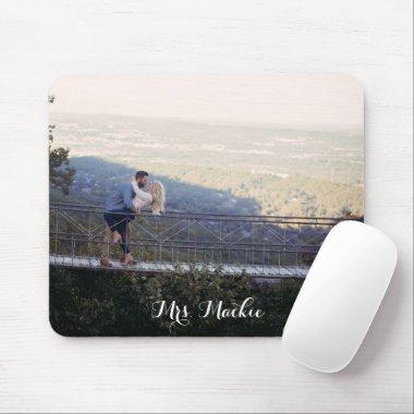 Modern Chic Elegant Weddings Photo Mouse Pad