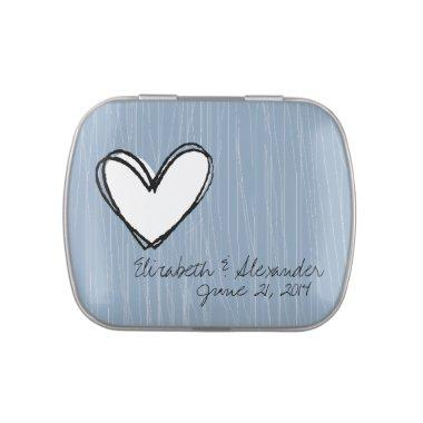 Modern Chic Wedding Guest Favor Mints Candy Tin