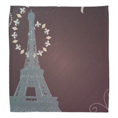modern chocolate swirls paris eiffel tower bandana