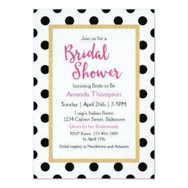 Modern Girly Chic Bridal Shower Invitations