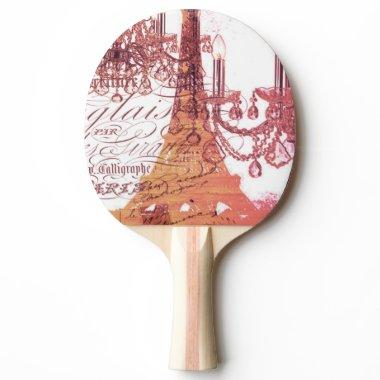 modern girly vintage chandelier paris eiffel tower Ping-Pong paddle