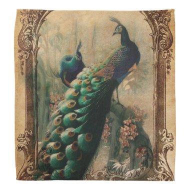 modern girly vintage peacock fashion bandana
