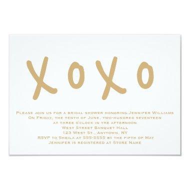 Modern gold xoxo