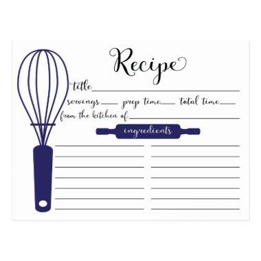 Modern Hand Lettered Blue Whisk Recipe