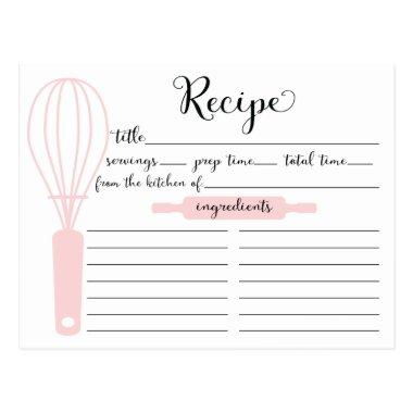 Modern Hand Lettered Pink Whisk Recipe