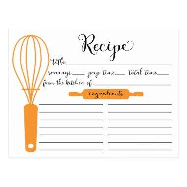 Modern Hand Lettered Tangerine Whisk Recipe