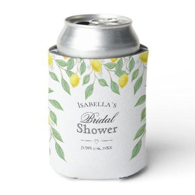 Modern Lemon Boho Summer Bridal Shower Can Cooler