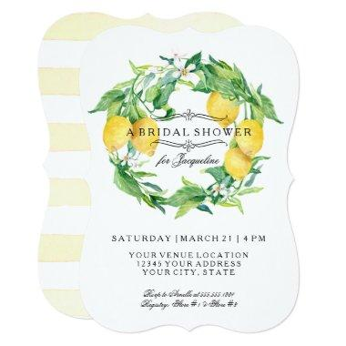 Modern Lemon Floral Citrus Bracket