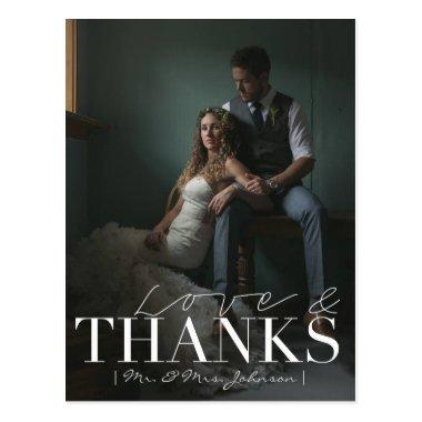 Modern Love & Thanks | Wedding Thank You Photo PostInvitations