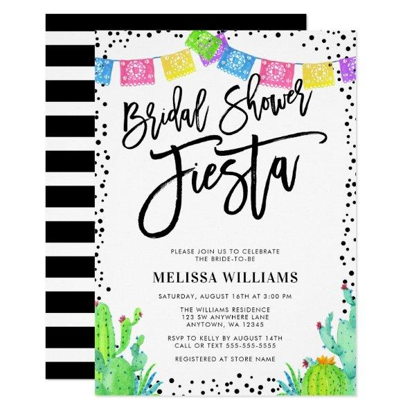 Modern Mexican Fiesta Bridal Shower Invitations