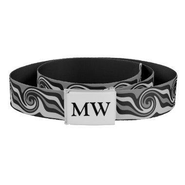 Modern monogrammed art belt