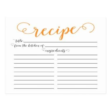 Modern Orange Script  Recipe