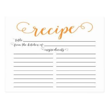 Modern Orange Script  Recipe