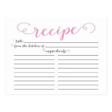 Modern Pink Script  Recipe