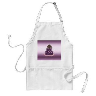Modern Purple Cake Design Adult Apron