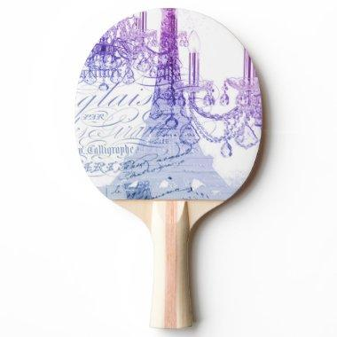 modern purple chandelier paris eiffel tower ping pong paddle