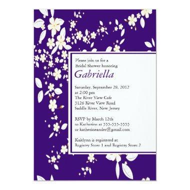 Modern Purple Floral