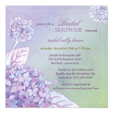 Modern Purple Hydrangeas Floral