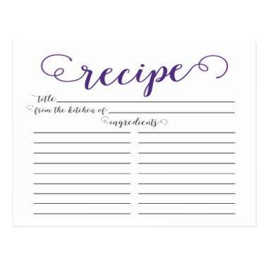 Modern Purple Script  Recipe