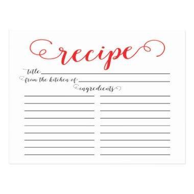 Modern Red Script  Recipe