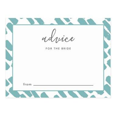 Modern Script Advice for the Bride Blue and White Post