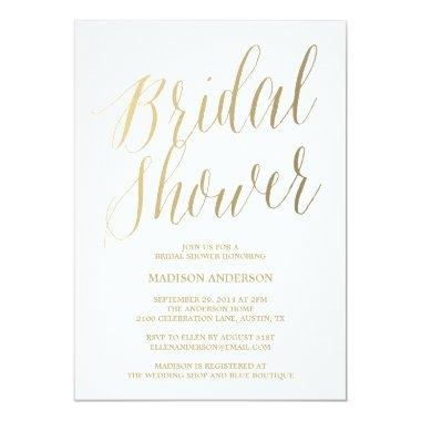 Modern Script | Bridal Shower Invitations