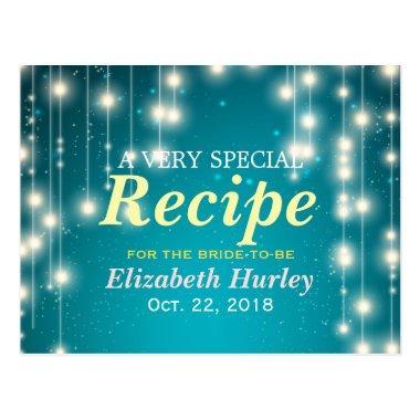 Modern String Light Turquoise  Recipe Post