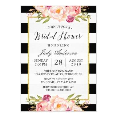Modern Stripes Floral Decor Wedding