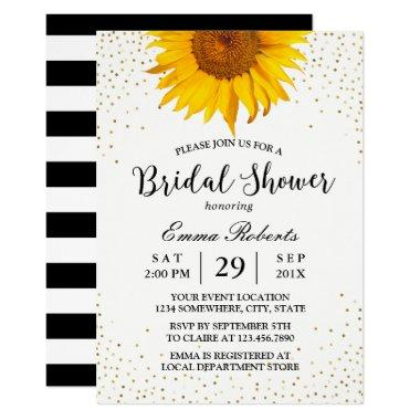 Modern Sunflower Gold Confetti Dots
