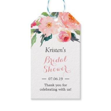 Modern Watercolor Floral Decor  Favor Gift Tags