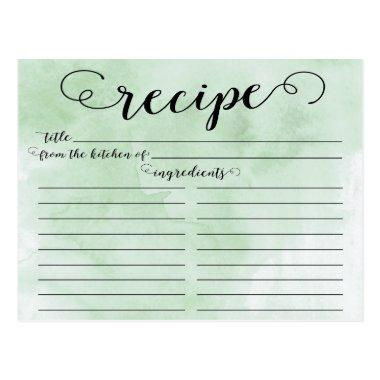 Modern Watercolor Script  Recipe