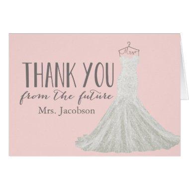 Modern Wedding Dress    Thank You