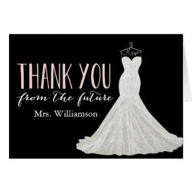 Modern Wedding Dress |  Thank You
