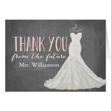 Modern Wedding Dress | Bridal Shower Thank You Invitations