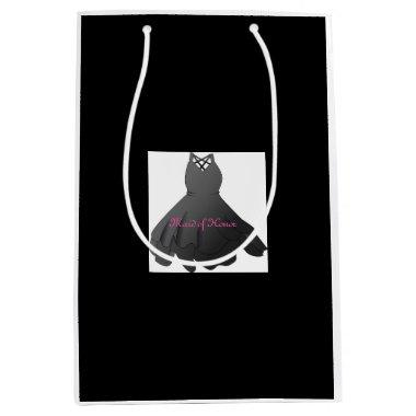 Modern Wedding Party Maid of Honor Dress Gift Bag