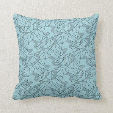 MoJo Pillow : CONTEMPO - AQUA MARINE Two-Tone