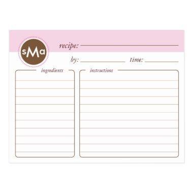 Monogram  Recipe