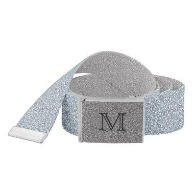 Monogram Encrusted Diamonds Look Glitter Patter Belt