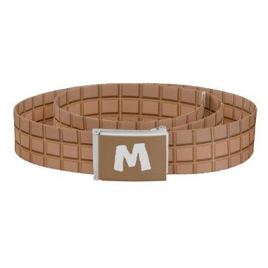 Monogrammed Chocolate Bar Belt