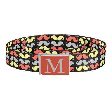 Monogrammed Mustachio Belt