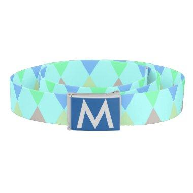 Monogrammed Rainbow Diamond Belt